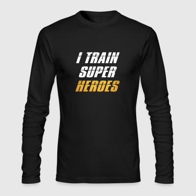 i train super heroes - Men's Long Sleeve T-Shirt by Next Level