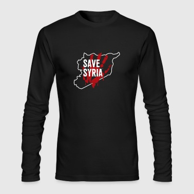 Save Syria - Men's Long Sleeve T-Shirt by Next Level