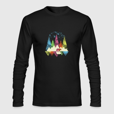 (Gift) Bear and Mountain - Men's Long Sleeve T-Shirt by Next Level
