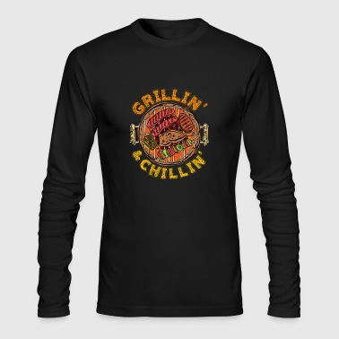 Grillin and Chillin BBQ Barbeque - Men's Long Sleeve T-Shirt by Next Level