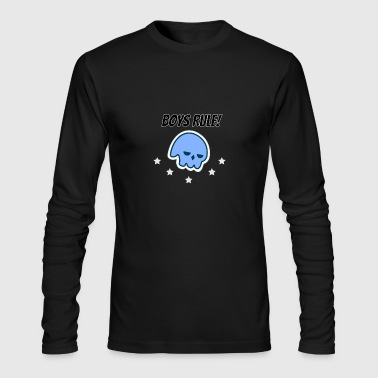 Boys Rule! Skull and Stars - Men's Long Sleeve T-Shirt by Next Level