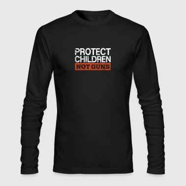 Pacifism Anti Gun Protect Children Not Guns - Men's Long Sleeve T-Shirt by Next Level