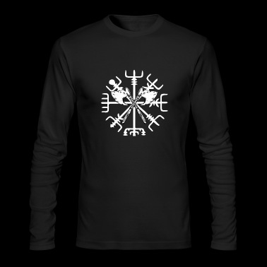 Viking Compass Vegvisir with axes - Men's Long Sleeve T-Shirt by Next Level