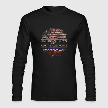 American grown with costa rican roots - Men's Long Sleeve T-Shirt by Next Level