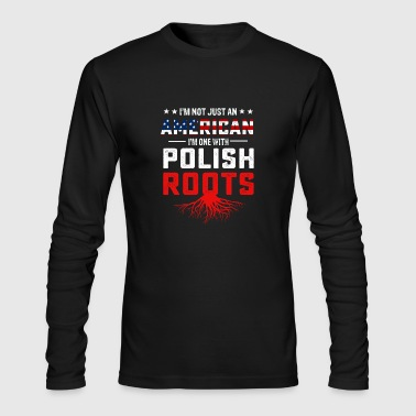 Polish American roots flag T-shirt - Men's Long Sleeve T-Shirt by Next Level