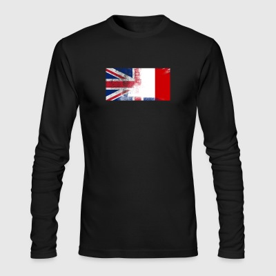 British Maltese Half Malta Half UK Flag - Men's Long Sleeve T-Shirt by Next Level