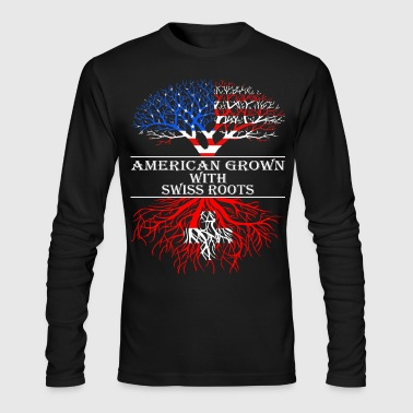 American Grown With Swiss Roots - Men's Long Sleeve T-Shirt by Next Level