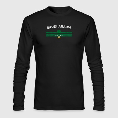 Saudi or Saudi Arabian Flag Shirt - Saudi or Saudi - Men's Long Sleeve T-Shirt by Next Level
