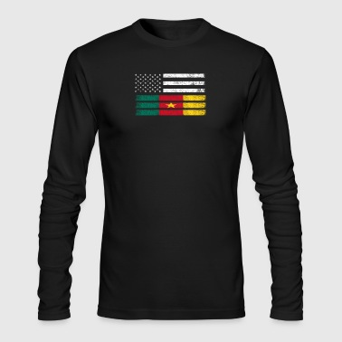 Cameroonian American Flag - USA Cameroon Shirt - Men's Long Sleeve T-Shirt by Next Level