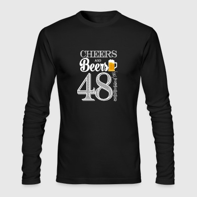 Cheers and Beers To 48 Years - Men's Long Sleeve T-Shirt by Next Level