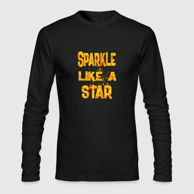 Sparkle Like A Star 1 - Men's Long Sleeve T-Shirt by Next Level
