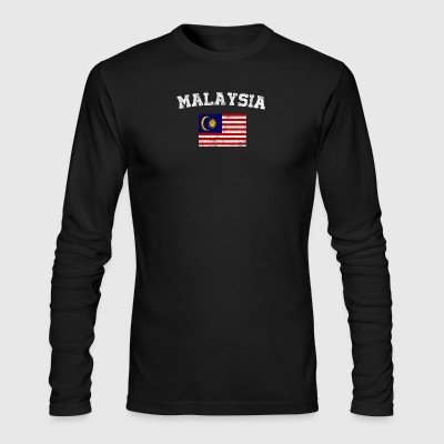 Malaysian Flag Shirt - Vintage Malaysia T-Shirt - Men's Long Sleeve T-Shirt by Next Level