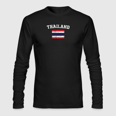 Thai Flag Shirt - Vintage Thailand T-Shirt - Men's Long Sleeve T-Shirt by Next Level