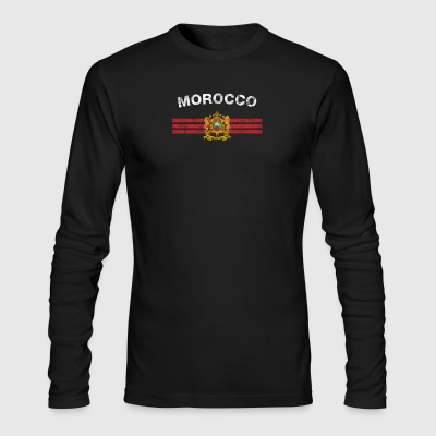 Moroccan Flag Shirt - Moroccan Emblem & Morocco Fl - Men's Long Sleeve T-Shirt by Next Level