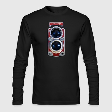 Vintage RED Double lens camera T-shirt - Men's Long Sleeve T-Shirt by Next Level