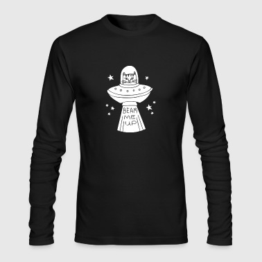 Beam Me Up Cat - Men's Long Sleeve T-Shirt by Next Level