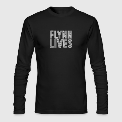 Flynn Lives Retro Arcade Gaming - Men's Long Sleeve T-Shirt by Next Level