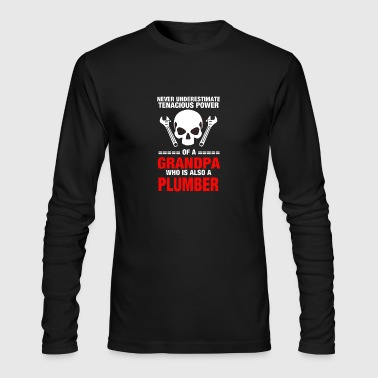 New Design Grandpa who is also plumber - Men's Long Sleeve T-Shirt by Next Level