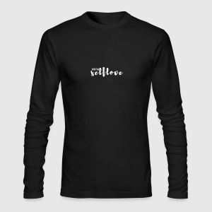 hashtag_selflove_WHITE - Men's Long Sleeve T-Shirt by Next Level