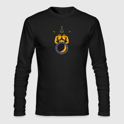 Greek Spartan warrior shield spear helmet - Men's Long Sleeve T-Shirt by Next Level