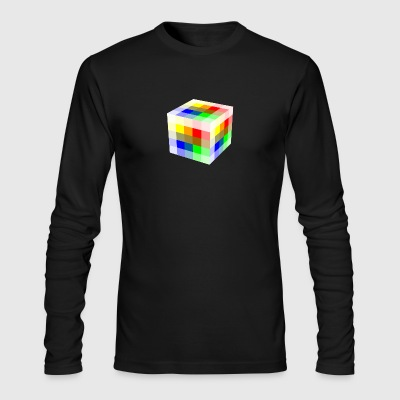 Multi Colored Cube - Men's Long Sleeve T-Shirt by Next Level