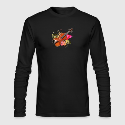 Violin Musical Instrument Tshirt - Men's Long Sleeve T-Shirt by Next Level