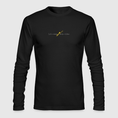 Trombone heartbeat lover - Men's Long Sleeve T-Shirt by Next Level