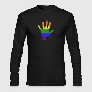 LGBT Pride Hand - Men's Long Sleeve T-Shirt by Next Level