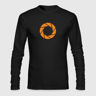 Aperture Science - Orange - Portal - Men's Long Sleeve T-Shirt by Next Level
