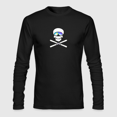 Skull with ski googles (Ski Edition) - Men's Long Sleeve T-Shirt by Next Level