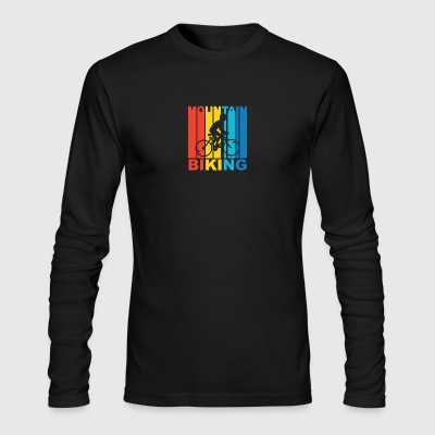 Vintage Mountain Biking Graphic - Men's Long Sleeve T-Shirt by Next Level