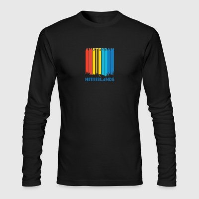 Retro Amsterdam Skyline - Men's Long Sleeve T-Shirt by Next Level