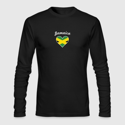 Jamaica Flag Heart - Men's Long Sleeve T-Shirt by Next Level