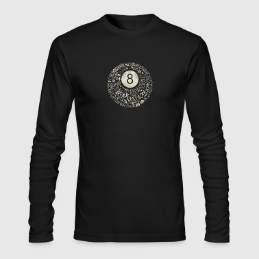 Eight Ball a Rock N' Rollin - Men's Long Sleeve T-Shirt by Next Level