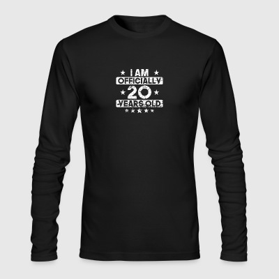 I Am Officially 20 Years Old 20th Birthday - Men's Long Sleeve T-Shirt by Next Level