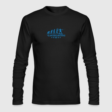 Retro Wakeboarding Evolution - Men's Long Sleeve T-Shirt by Next Level