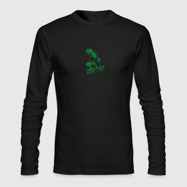 DEPTHS Palm trees - Men's Long Sleeve T-Shirt by Next Level