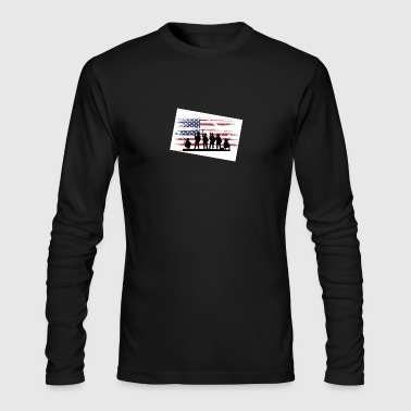 military - Men's Long Sleeve T-Shirt by Next Level