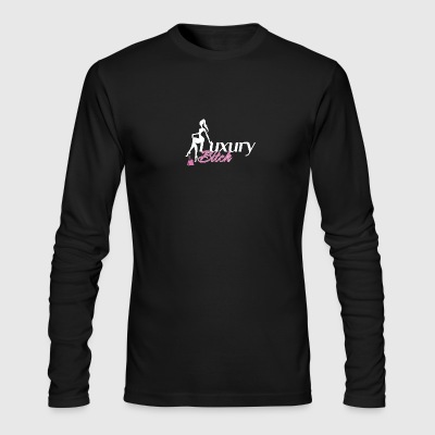 Luxury Bitch White Pink - Men's Long Sleeve T-Shirt by Next Level