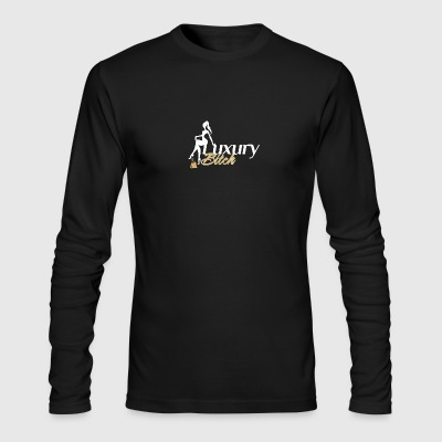 Luxury Bitch White Gold - Men's Long Sleeve T-Shirt by Next Level