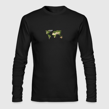 Polygon Map of the World - Men's Long Sleeve T-Shirt by Next Level
