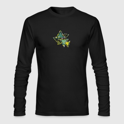 abstract triangles - Men's Long Sleeve T-Shirt by Next Level