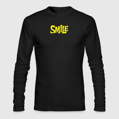 Smile Yellow - Men's Long Sleeve T-Shirt by Next Level