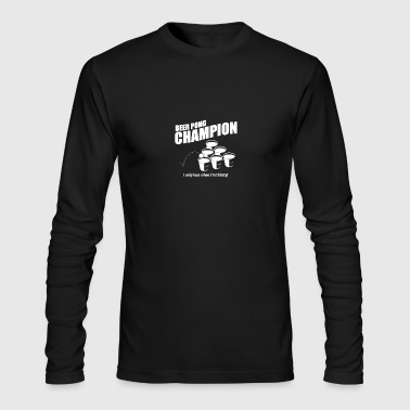 Beer Pong Champion - Men's Long Sleeve T-Shirt by Next Level