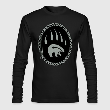 Tribal Bear Claw Art Shirts - Men's Long Sleeve T-Shirt by Next Level