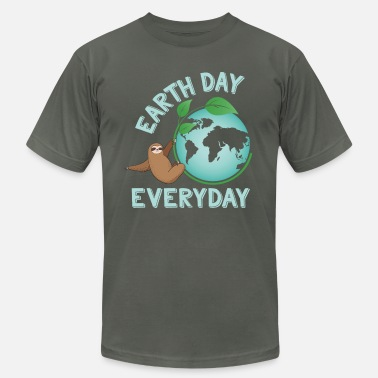 Animal Planet Earth Day Everyday Sloth Green Planet Every Day Earth Day - Unisex Jersey T-Shirt