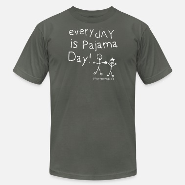 Teacher Pajamas Every day is pajama day with Homeschooling! - Men's  Jersey T-Shirt