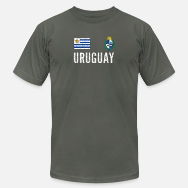 World of Football Ringer T-Shirt Uruguay Logo