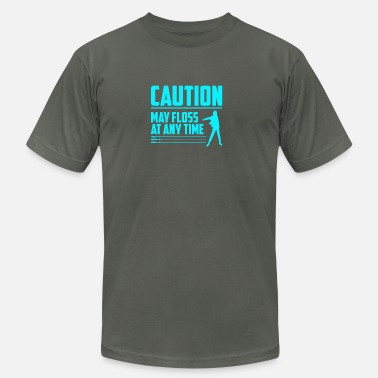 Caution CAUTION May floss at any time - Men's  Jersey T-Shirt