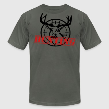 hunting deer - Men's Fine Jersey T-Shirt